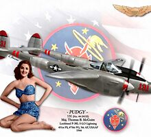 Pudgy - P-38L Lightning by A. Hermann