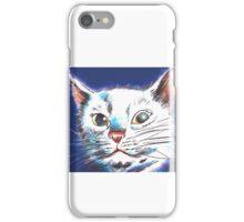 Animal Prints White Cat iPhone Case/Skin