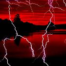 LIGHTNING AT THE LAKE~ by RoseMarie747