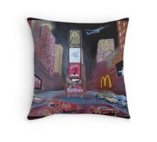 Times Square with Elvis Throw Pillow