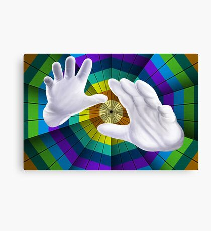 Modern Art You've Got To Have Hands Canvas Print
