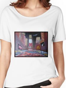 Times Square with Elvis Women's Relaxed Fit T-Shirt
