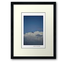 Reaching for the skies!!! Framed Print