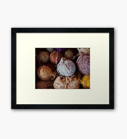 Knit Song Framed Print