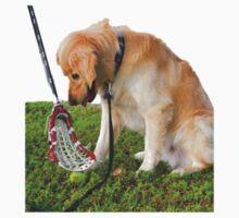 Golden Retriever and Lacrosse Stick by Csturges07