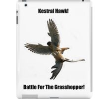 Kestrel Falcon Battle For The Grasshopper iPhone Case and Clothing iPad Case/Skin