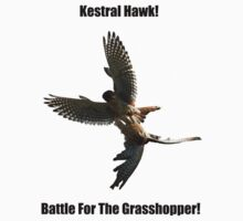 Kestrel Falcon Battle For The Grasshopper iPhone Case and Clothing Kids Clothes