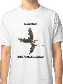 Kestrel Falcon Battle For The Grasshopper iPhone Case and Clothing Classic T-Shirt