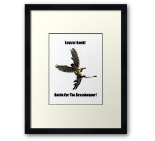 Kestrel Falcon Battle For The Grasshopper iPhone Case and Clothing Framed Print