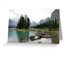 Maligne Lake in Canada Greeting Card