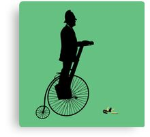 Bobby on a Segway-Penny-Farthing Canvas Print