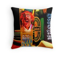 BEER CLOWN Throw Pillow