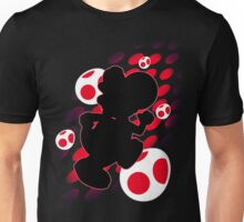 Super Smash Bros. Red Yoshi Silhouette Unisex T-Shirt