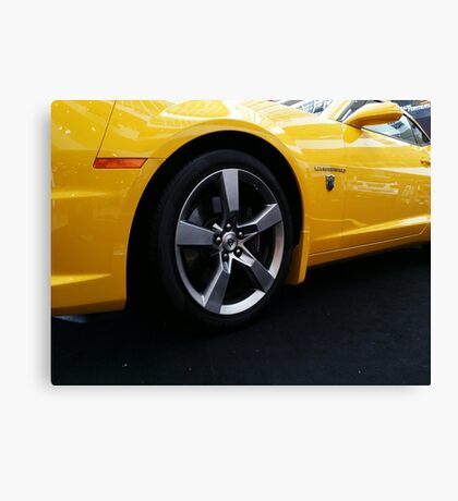 Transformers Chevy Camaro Canvas Print