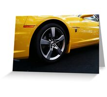 Transformers Chevy Camaro Greeting Card
