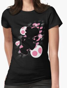 Super Smash Bros. Pink Yoshi Silhouette Womens Fitted T-Shirt