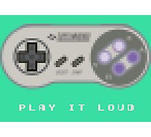 Play it Loud! - Sprite - Super Nintendo Photographic Print
