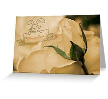Roses for Easter Greeting Card