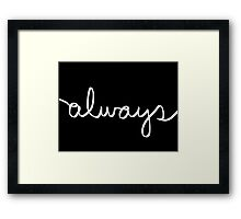 Always White Framed Print