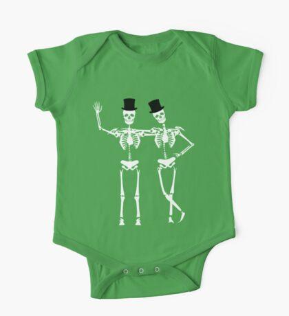 Classy Skeletons One Piece - Short Sleeve