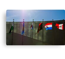 United Nations Flags Canvas Print