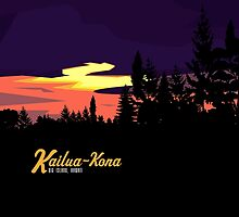Kailua Kona Hawaii Sunset by PatinoDesign