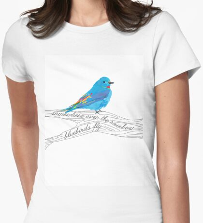 Bluebirds Fly Womens Fitted T-Shirt