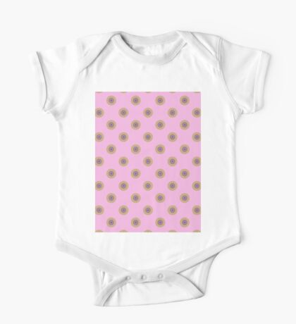 polka dots on pink One Piece - Short Sleeve