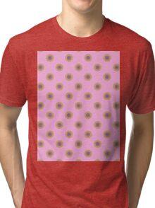 polka dots on pink Tri-blend T-Shirt