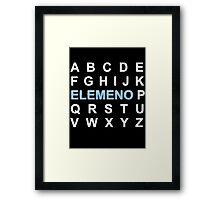 ABC ELEMENO Alphabet Framed Print