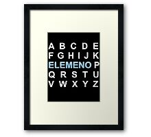 ABC ELEMENO Alphabet Framed Print