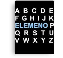 ABC ELEMENO Alphabet Canvas Print