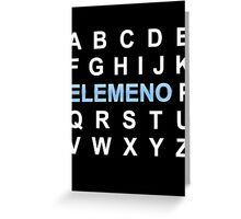 ABC ELEMENO Alphabet Greeting Card