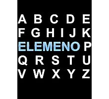 ABC ELEMENO Alphabet Photographic Print