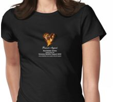 Blazing Heart Womens Fitted T-Shirt