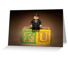Frank Underwood on blocks Greeting Card