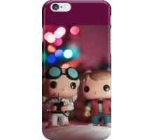 Christmas with Marty and Doc iPhone Case/Skin