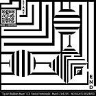 Bubbles Maze in op art by Elenapinker