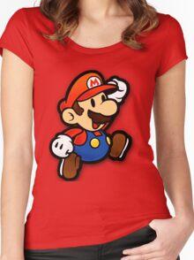 Custom Paper Mario Shirt Women's Fitted Scoop T-Shirt