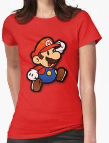 Custom Paper Mario Shirt Womens Fitted T-Shirt