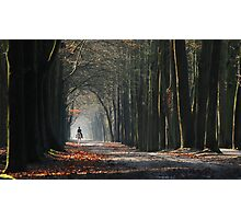Riding on a February lane Photographic Print