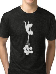 gravity sucks white/ zwaartekracht wit Tri-blend T-Shirt