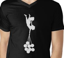 gravity sucks white/ zwaartekracht wit Mens V-Neck T-Shirt