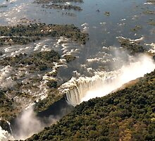 Magnificent Victoria Falls from the Air by Marylou Badeaux