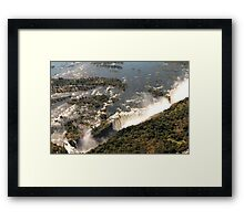 Magnificent Victoria Falls from the Air Framed Print