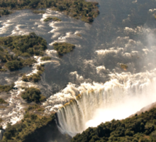 Magnificent Victoria Falls from the Air Sticker