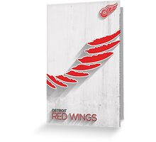 Detroit Red Wings Minimalist Print Greeting Card