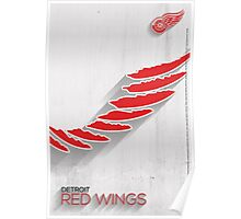 Detroit Red Wings Minimalist Print Poster