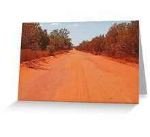 Road to Willie Creek, Western Australia Greeting Card