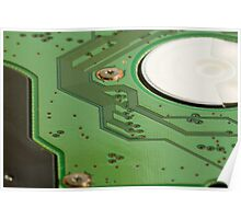 A green printed circuit board Poster